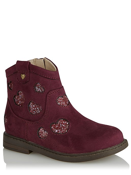 select for authentic uk cheap sale stylish design First Walkers Plum Heart Suede Effect Ankle Boots