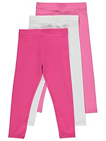 7ce75a1e577ca Pink Jersey Leggings 3 Pack