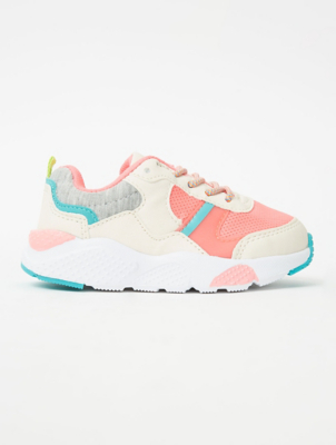 First Walkers Neon Elasticated Lace Trainers
