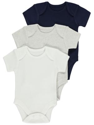 Grey Bodysuits 3 Pack