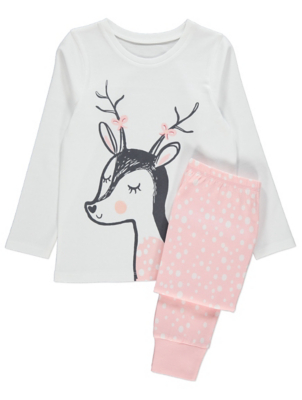 Pink Polka Dot Deer Pyjamas