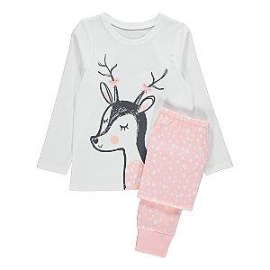Pink Polka Dot Deer Pyjamas