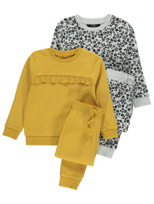 Mustard Sweatshirt and Joggers 2 Pack