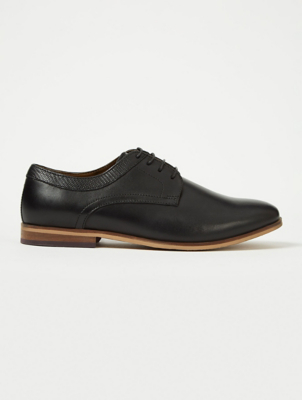 Boys Black Leather Oxford School Shoes
