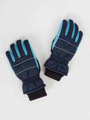 Thinsulate Navy Padded Ski Gloves