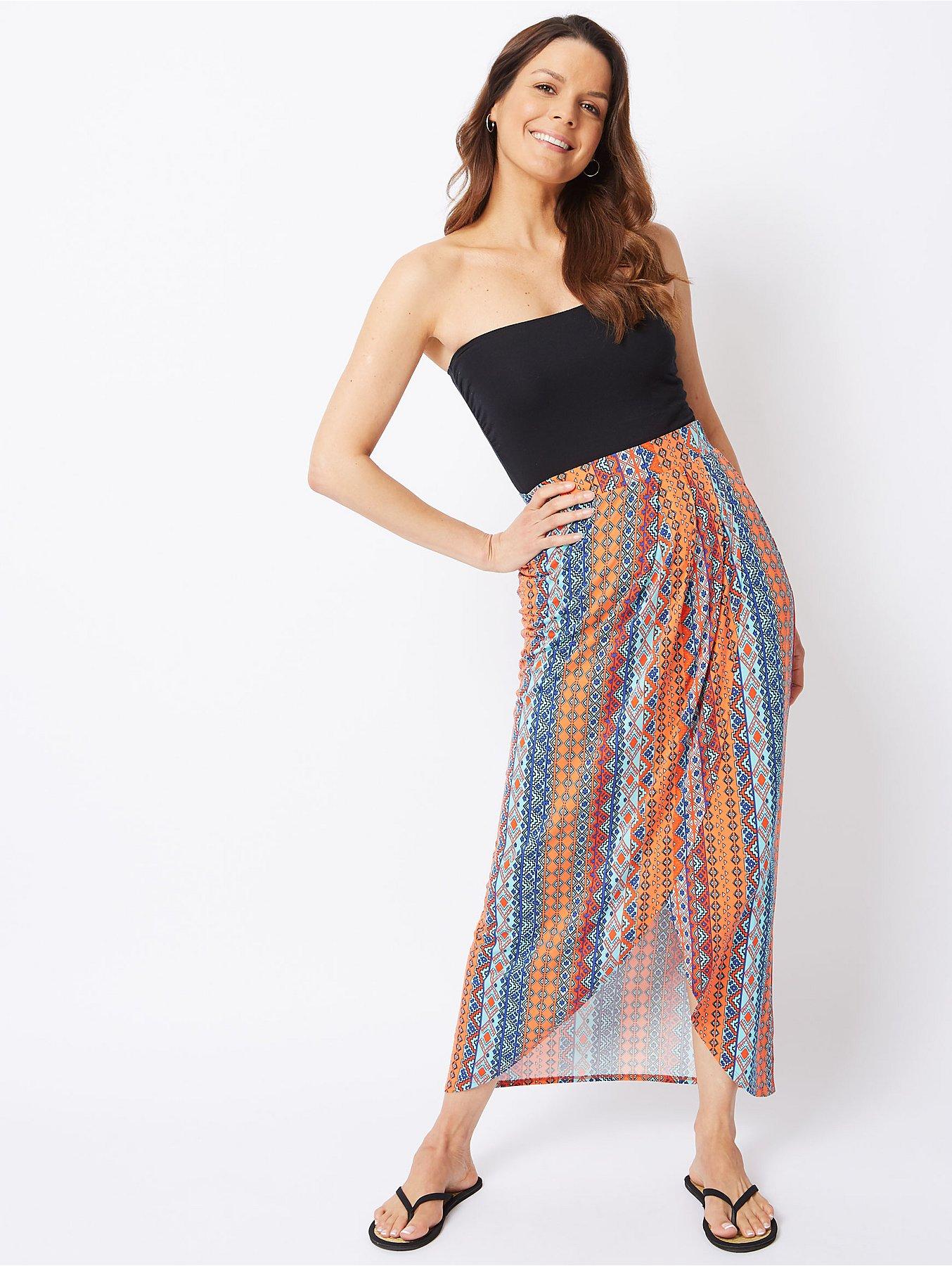 7d6349197fa95 Aztec Print Jersey Maxi Skirt | Women | George