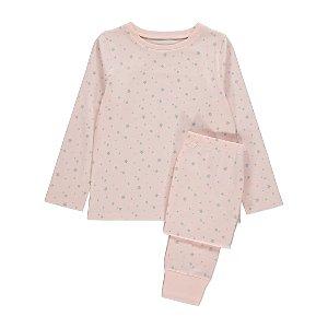 Pink Star Print Pyjamas
