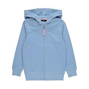 Pale Blue Zip Up Hoodie