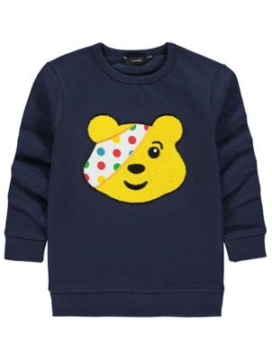 Children in Need Navy Bouclé Pudsey Sweatshirt