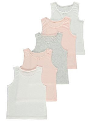Pastel Heart Vests 5 Pack