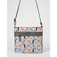 grey-cat-print-cross-body-bag by asda