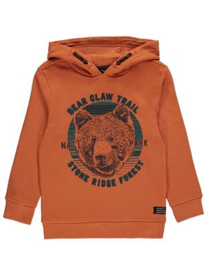 Orange Bear Claw Trail Logo Hoodie