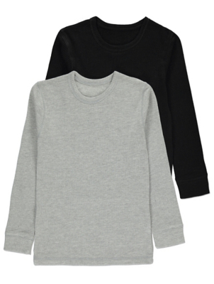 Long Sleeve Thermal Tops 2 Pack