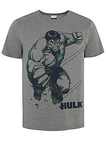 a7e904fa Marvel The Incredible Hulk Grey Marl T-Shirt