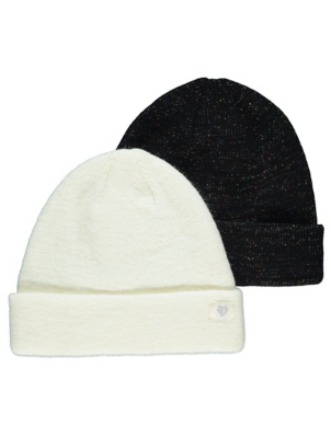 Shimmering Beanie Hats 2 Pack