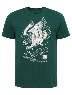 Green Eagle Graphic T-Shirt