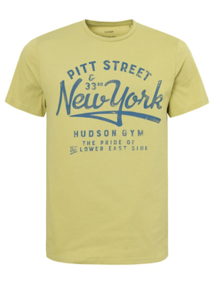 Lime New York Slogan Graphic T-Shirt