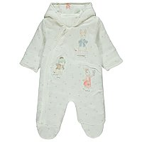 Peter Rabbit White Printed Pramsuit by Asda
