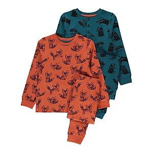 Animal Print Pyjamas 2 Pack