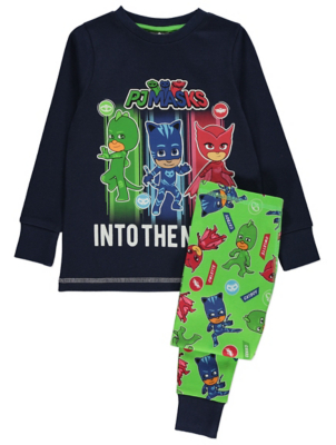 PJ Masks Navy Glow In The Dark Pyjamas