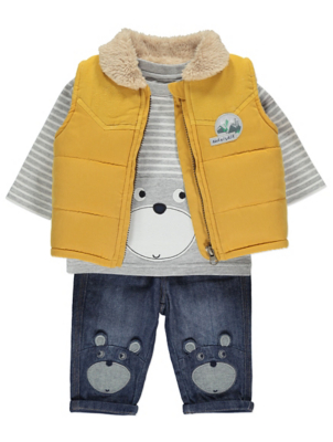 Bear Gilet Top and Jeans Outfit