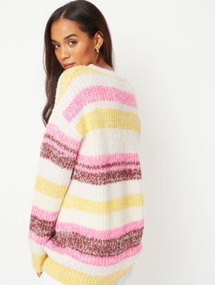 Pink Colourful Stripe Jumper
