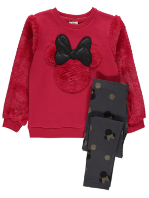 Disney Minnie Mouse Red Sweatshirt and Leggings
