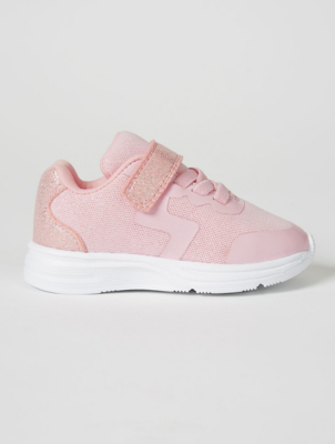 First Walkers Pink Glitter Trainers