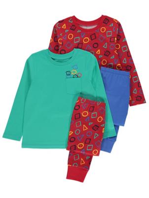 Geometric Print Pyjamas 2 Pack