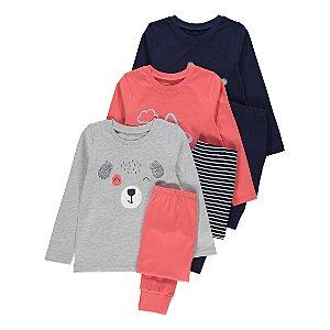 Graphic Long Sleeve Pyjamas 3 Pack