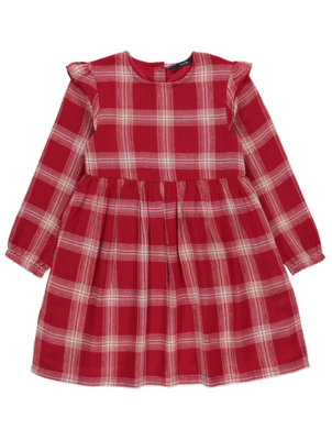 Red Check Woven Dress