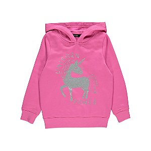 Pink Unicorn Print Hoodie