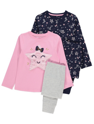 Star Long Sleeve Pyjamas 2 Pack