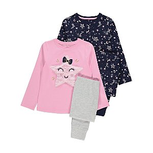 Star Long Sleeve Pyjamas 2 Pack