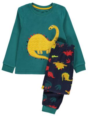 Teal Plush Dinosaur Pyjamas Gift Set
