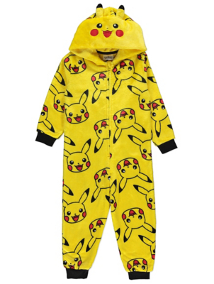 Pokémon Pikachu Yellow Fleece Onesie
