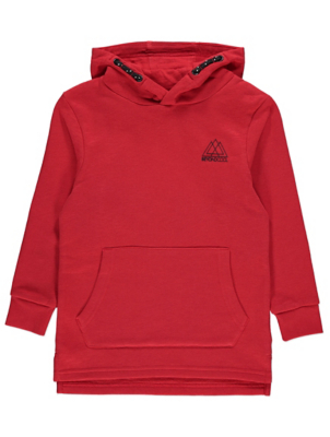 Red Emblem Hoodie