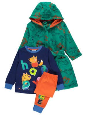 Peppa Pig Navy Pyjamas and Dressing Gown Outfit