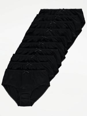 Black Short Briefs 10 Pack