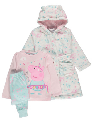 Peppa Pig Pastel Pyjamas and Dressing Gown Outfit