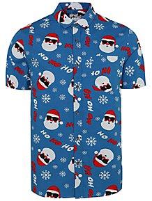 Christmas Hawaiian Shirt Womens.Men S Shirts Men S Clothes George At Asda