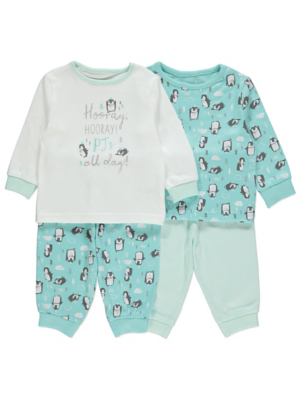 Blue Penguin Print Pyjamas