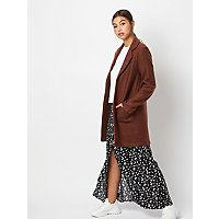 Umber Brown Jersey Throw On Jacket by Asda
