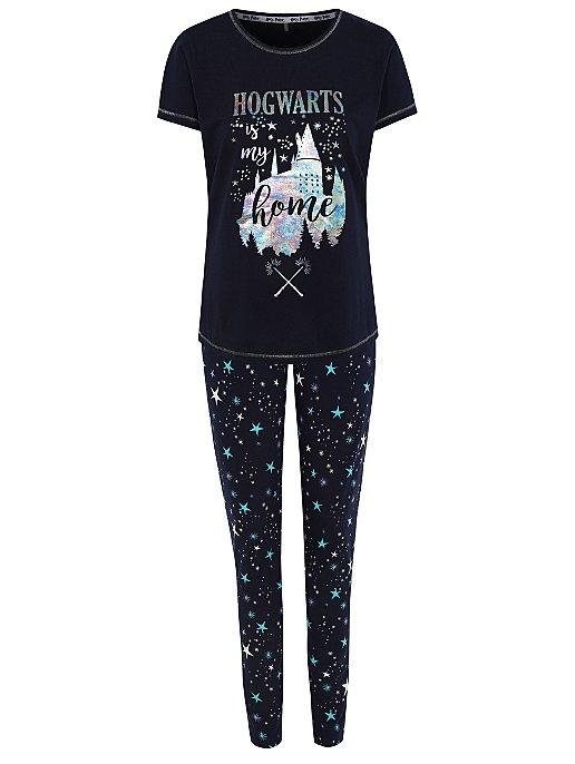 zapatos de temperamento descuento especial de calidad de marca Harry Potter Hogwarts Holographic Print Pyjamas