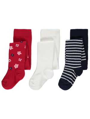 Assorted Knitted Tights 3 Pack
