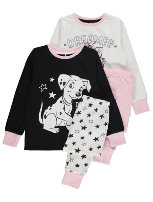 Disney 101 Dalmatians and The Aristocats Pyjamas 2 Pack