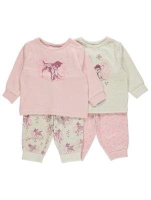 Disney Bambi Pink Floral Long Sleeve Pyjamas