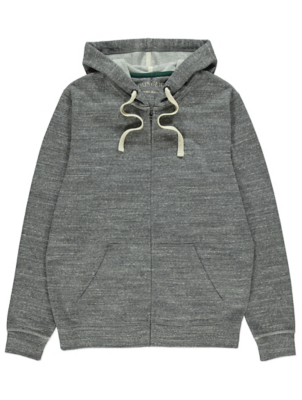Grey Brushed Zip Up Loungewear Hoodie
