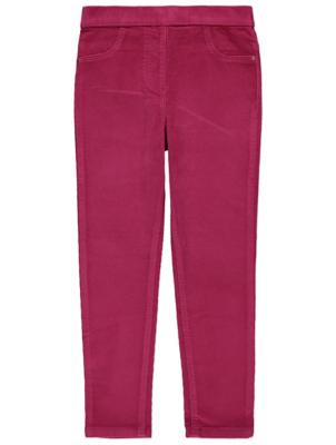 Pink Corduroy Jeggings