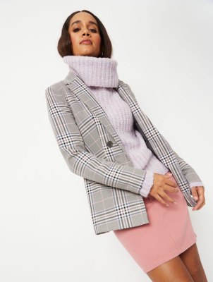 Blue and Pink Check Formal Blazer